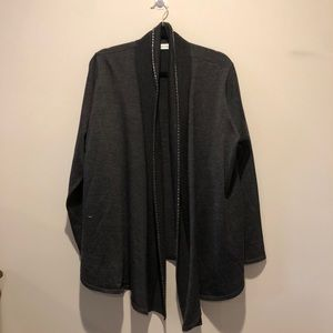 Plus Size Calvin Klein Cardigan Grey Metal detail